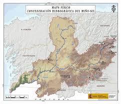 Mapa fisico de la cuenca de rio miño