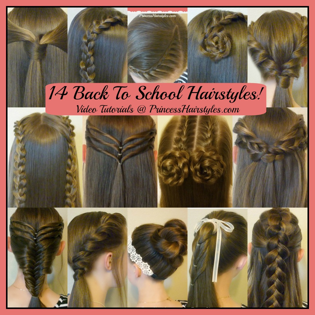 14 easy hairstyles for school compilation! 2 weeks of