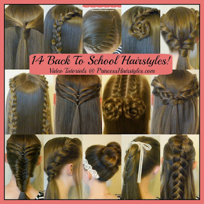 14 cute hairstyles for school! Video tutorials.
