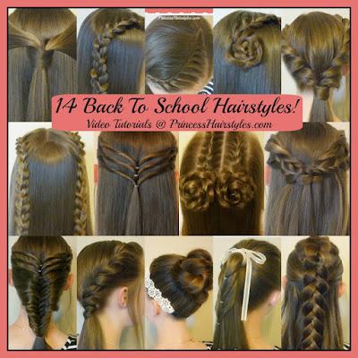 14 cute hairstyles for school! Video tutorials.