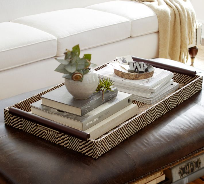 Ottoman Tray Decor Ideas