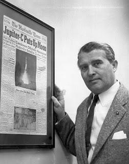 Von Braun, mi supervillano favorito: Von Braun en su etapa americana, tras el éxito de su cohete Júpiter