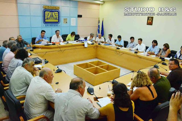 Δημοτικό Συμβούλιο στο Ναύπλιο στις 7 Αυγούστου