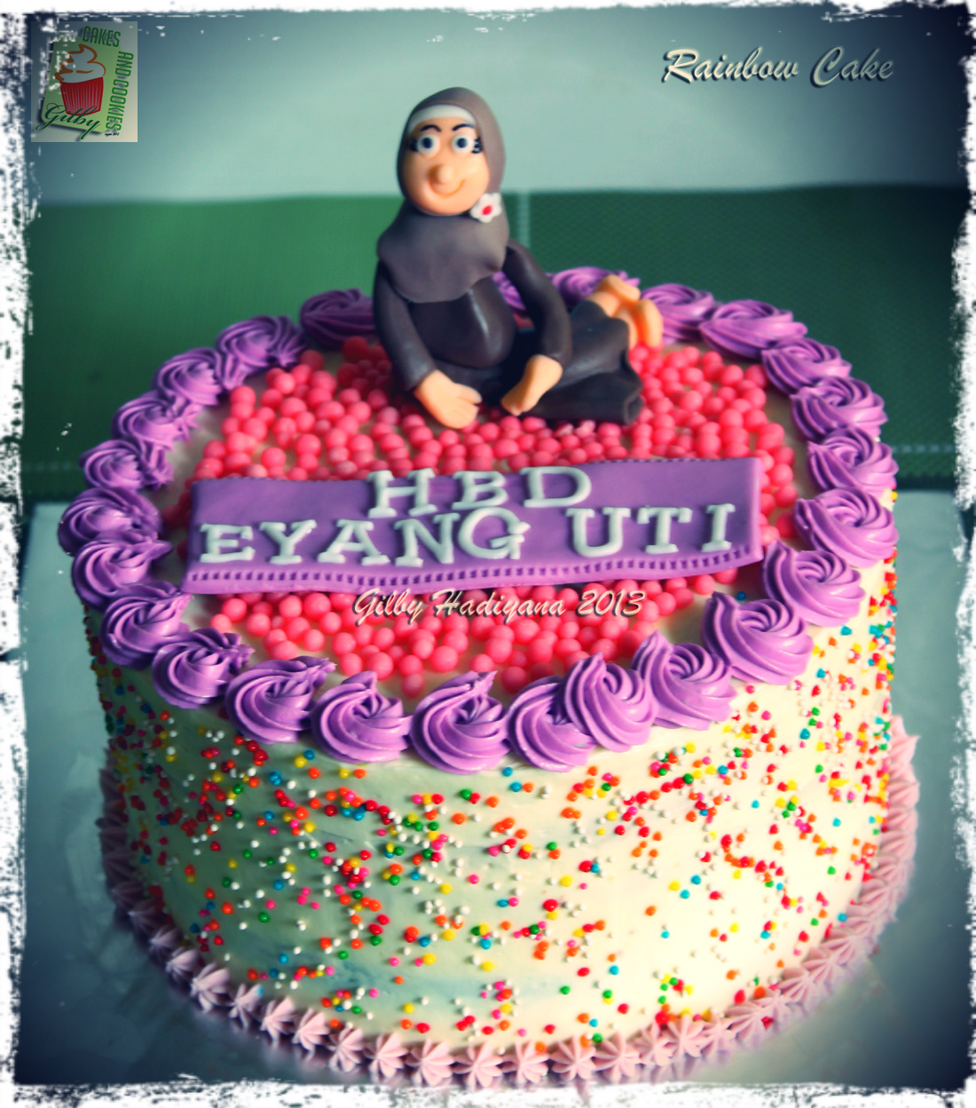 Rainbow Cake Untuk Enin And Eyang