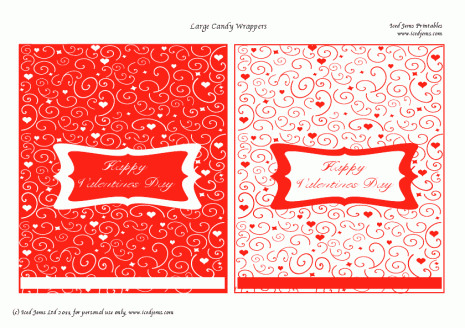 Completo kit para san valent n para imprimir gratis for Valentine candy bar wrapper templates