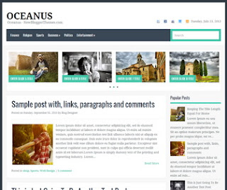 Oceanus blogger template