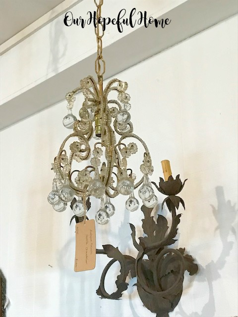 vintage antique crystal chandelier