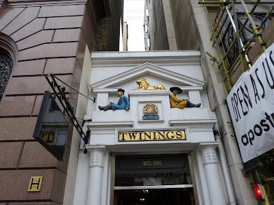 Entrance to Twinings tea house, Strand, London