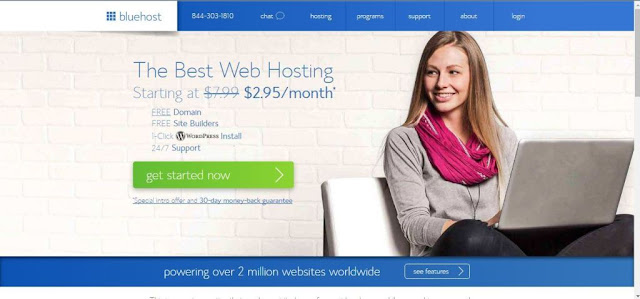Bluehost Beginners guide to buy a domain name and hosting