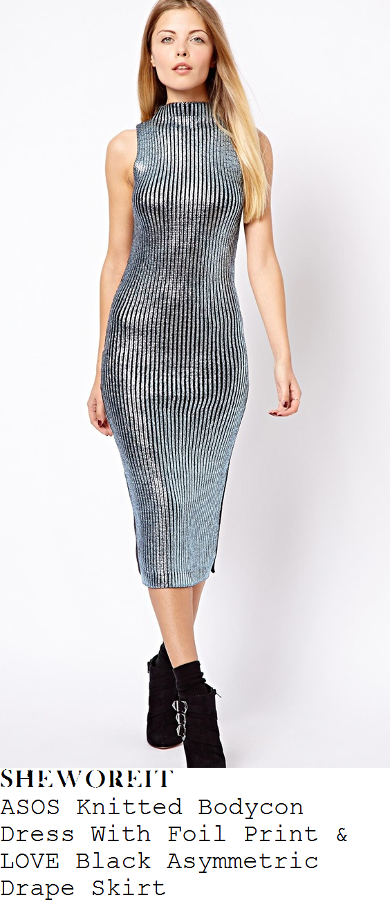 tamera-foster-silver-black-stripe-and-black-asymmetric-draped-skirt-x-factor