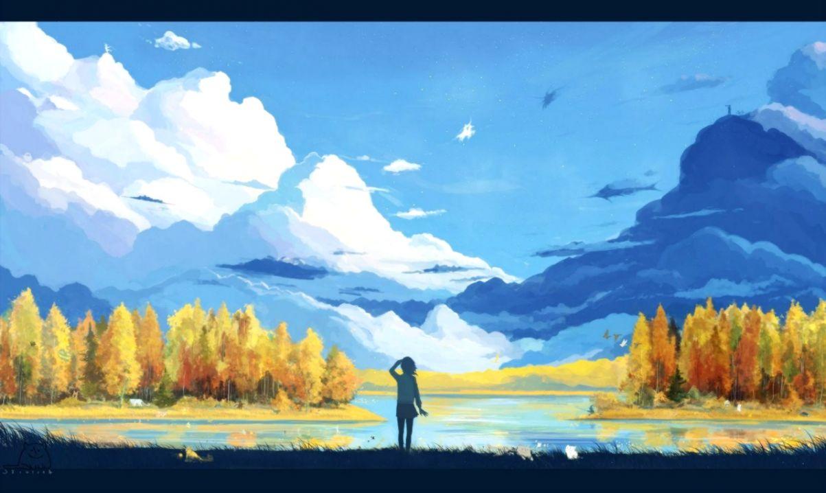 Desktop Landscape Anime Wallpaper Hd
