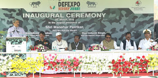 Defexpo-16 inaugurated by defence minister manohar parrikar