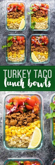 Turkey Taco Lunch Bowls (Meal Prep)