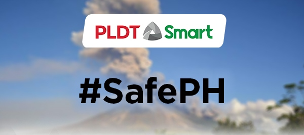 PLDT, Smart Remain Operational in Areas near Mt. Mayon