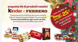 Logo Con Kinder e Ferrero vinci buoni spesa da 25 euro
