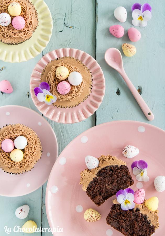 cupcakes-zanahoria-chocolate-nutella-nocilla-nido-huevos-pascua