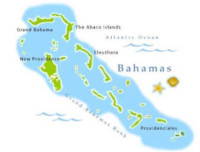 Carte de l'archipel des Bahamas