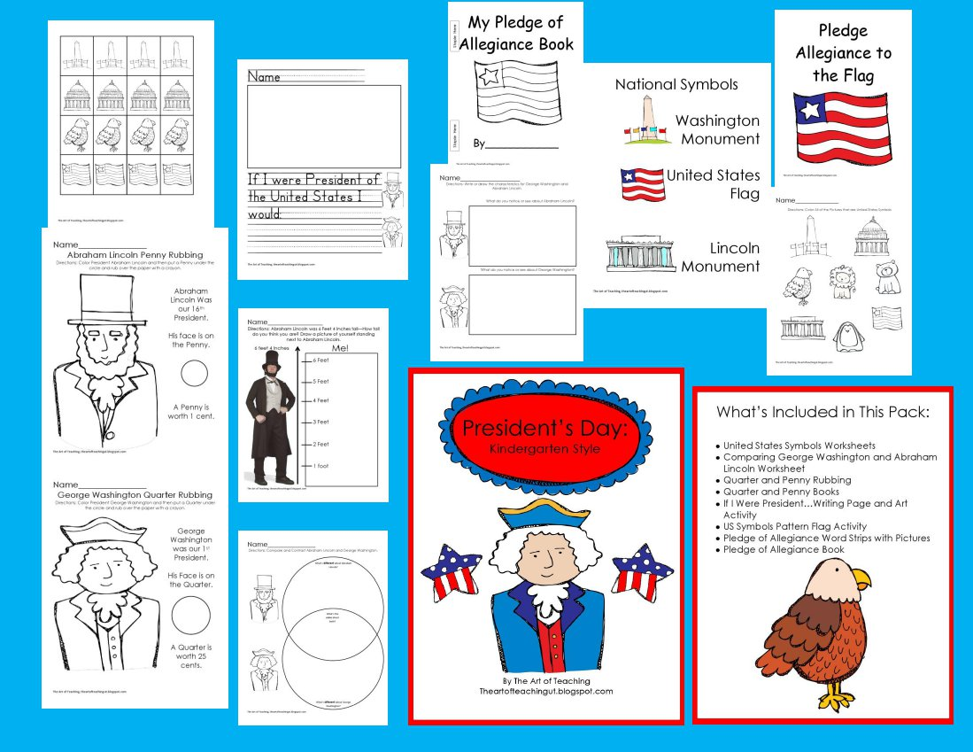 The Art Of Teaching A Kindergarten Blog President S Day