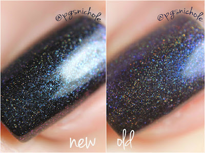 Carpe Noctem Cosmetics Ms Deep new vs old comparison by Bedlam Beauty