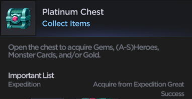 Grand Chase Mobile Global platinum chest
