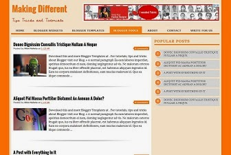 Making Different Blogger Template