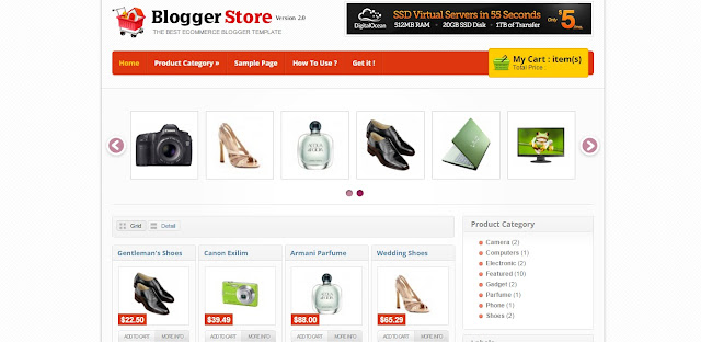 Theme Blogspot bán hàng