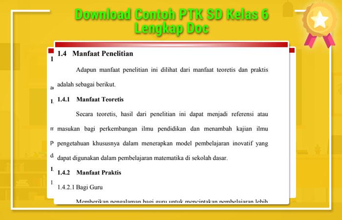 Contoh PTK SD Kelas 6