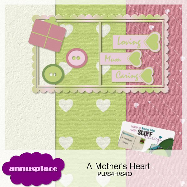 "Preview of teh kit ""A Mother's Heart"""""