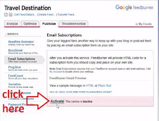 Setup Google FeedBurner to Enable Email Subscriptions