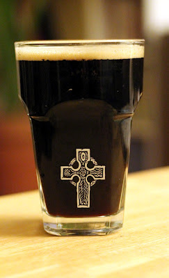 Coffee Oatmeal Stout, hard to screw up appearance on a dark beer.