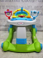 Walk Behind Baby Walker Care CWL501 2 in One Walker - Walk Behind (Stroll Along Walker) - Green