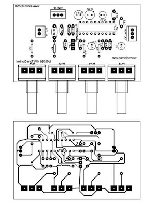 PCB Layout Tone Control lm1036 stereo