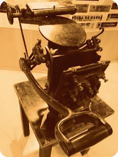 Antiga Impressora no Museu Antropológico de Ijuí