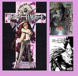 portadas del tomo uno del cómic manga de suspense y fantasía Death note