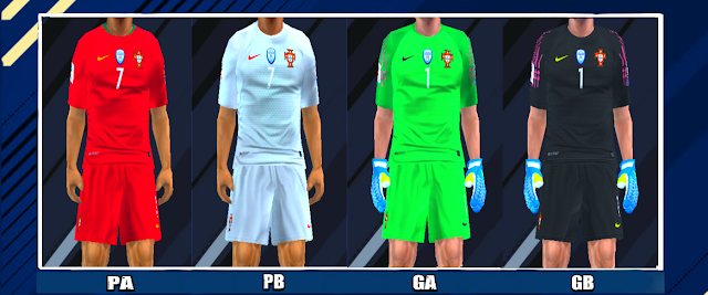 adb348f51 Portugal 2018 World Cup Kits PES PSP For Emulator PPSSPP