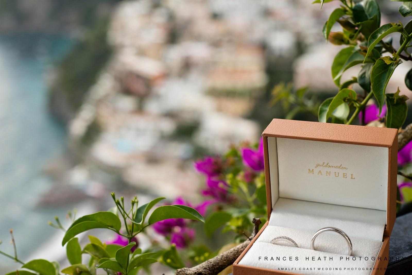 Wedding rings in Positano Italy