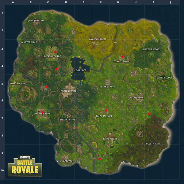 Find A Gas Station >> Fortnite Gas Station Locations Battle Royale Map