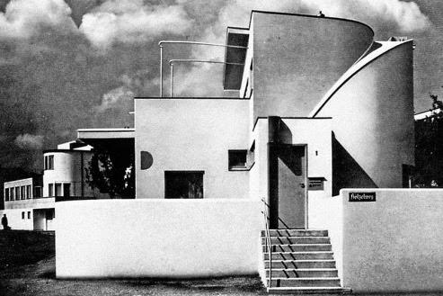 Casa vanguardista en la feria de Stuttgart Alemania 1927