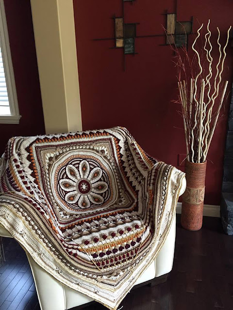 mandala with flower - overlay crochet