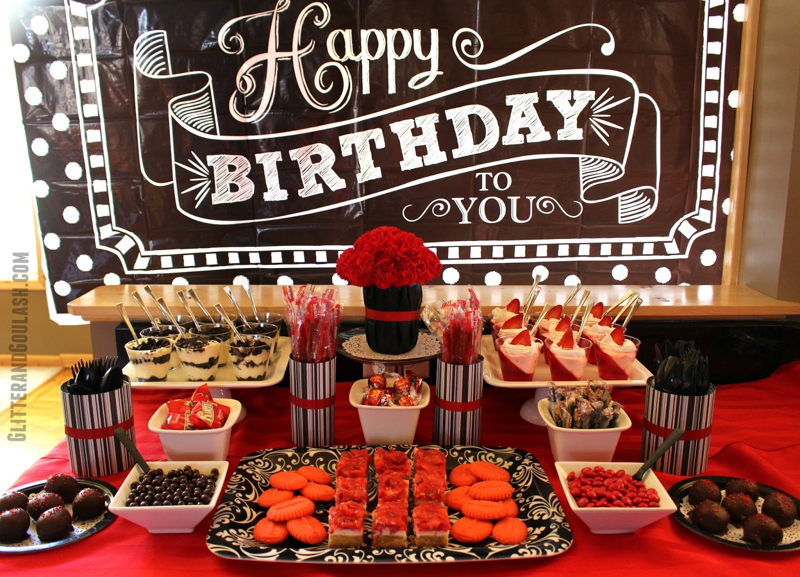 Black & Red Dessert/Snack Table Ideas - Glitter and Goulash