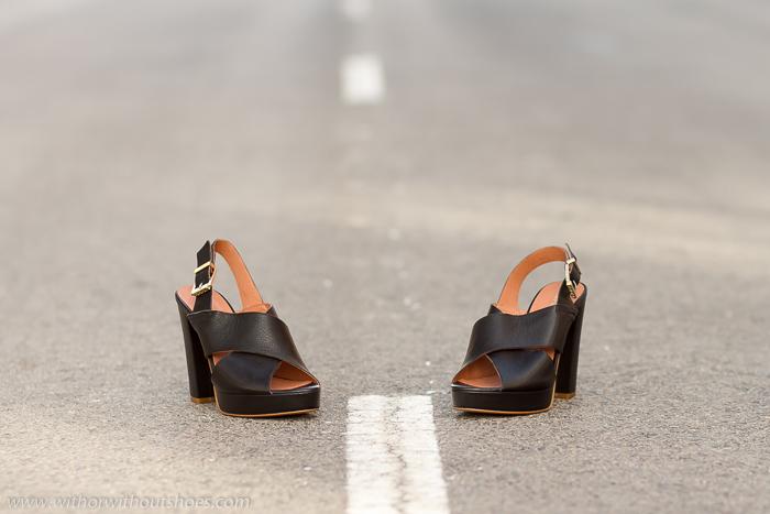Tacón Con Cruzadas Ancho NuevosSandalias Zapatos Negras Y OwPn0k
