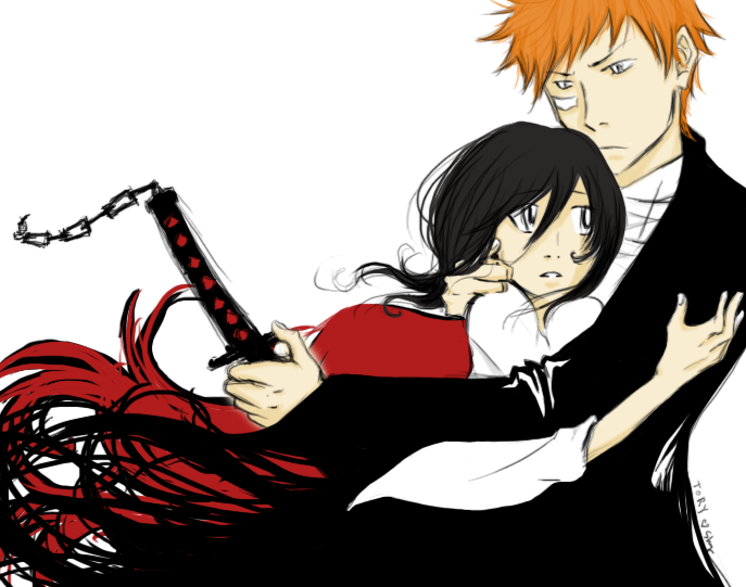Bleach Wallpapers: Ichigo and Rukia.This is called Love.