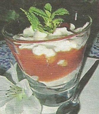 Состав продуктов и способ приготовления сливочного десерта с яблочной помадкой