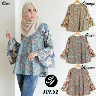 butik blouse batik modern