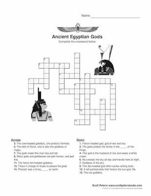 Ancient Egypt Worksheet crossword