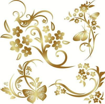 Moldes Para Imprimir Imagens Douradas Arabescos Clique Nas