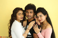 Kiran Chetwani with Janani Iyyer and others at Lakshmi Devi Samarpinchu Nede Chudandi Movie Interview 019.JPG