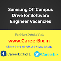 Samsung Off Campus Drive for Software Engineer Vacancies