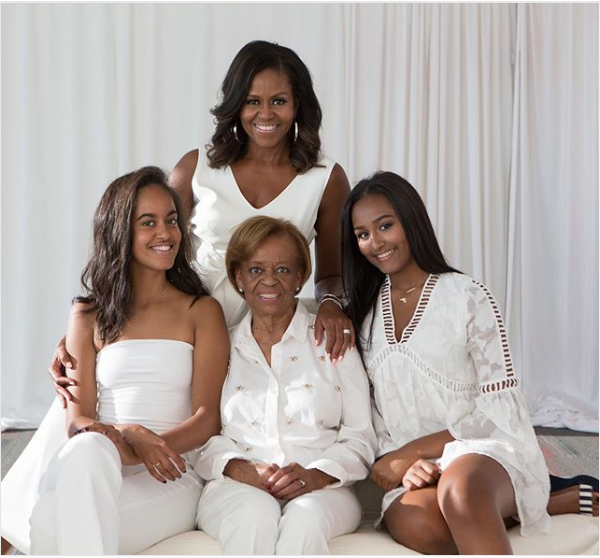 Michelle Obama shares beautiful family photo as she pays tribute to her mom to celebrate Mother's Day
