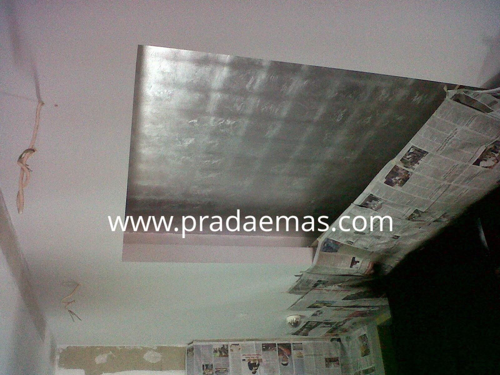 plafon silver leaf finish